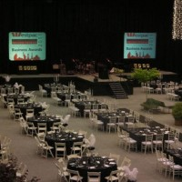 Business Awards Dinner over SMARTSQUARE in gym