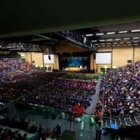 MULTI-SCHOOL EVENT IN COMPLETE STADIUM FITOUT WITH TIERED SEATING