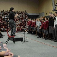 SCHOOL PERFORMANCE IN GYM OVER CARPET TILES